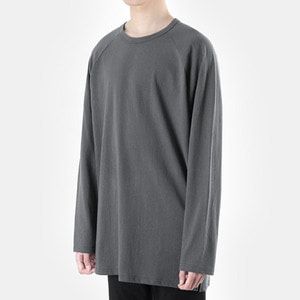 TRMARK RAGLAN OVER COTTON TEE  GRAY