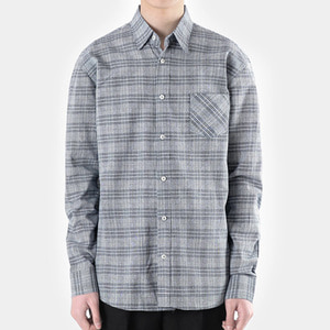 TRMARK CK_003 GLEN CHECK SHIRT NAVY