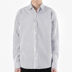 TRMARK ST_007 PIN STRIPE SHIRT NAVY