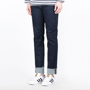 TRMARK SPAN WASHED TURN UP DENIM INDIGO