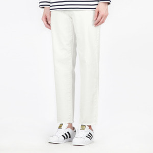 TRMARK SPAN COTTON CROP PANTS IVORY