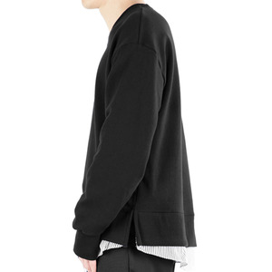 TRMARK SHIRT LAYERD SWEAT MTM BLACK