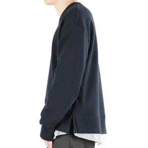 TRMARK SHIRT LAYERD SWEAT MTM NAVY