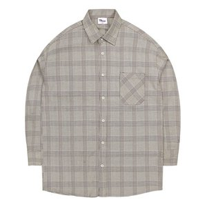 TRMARK CKO_010 GLEN CHECK SHIRT BROWN