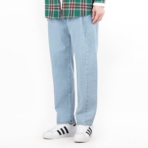 TRMARK SEMI WIDE ONE TUCK DENIM L-BLUE