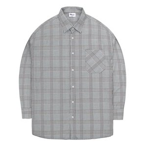 TRMARK CKO_010 GLEN CHECK SHIRT GRAY