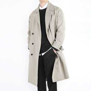 TRMARK OVER COTTON TRENCH COAT BEIGE