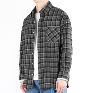 TRMARK CKO_009 WINDOW CHECK SHIRT CHARCOAL