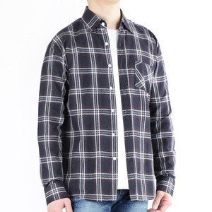 TRMARK CK_005 FLANNEL CHECK SHIRT NAVY