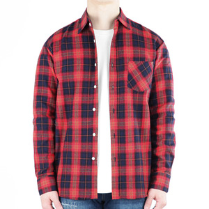 TRMARK CK_006 TARTAN CHECK SHIRT RED