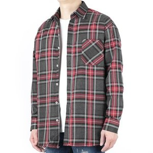 TRMARK CKO_012 OVER CHECK SHIRT CHARCOAL