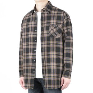 TRMARK CKO_014 SCOTS CHECK SHIRT BLACK