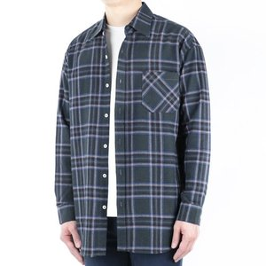 TRMARK CKO_014 SCOTS CHECK SHIRT NAVY