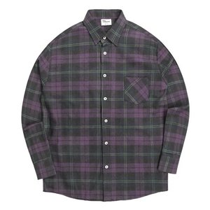 TRMARK CK_011 SCOTS CHECK SHIRT PURPLE