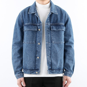 TRMARK FLAP DENIM JACKET